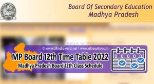 MPBSE 12th Time Table 2022 Download PDF